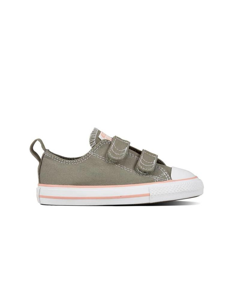 CONVERSE CHUCK TAYLOR 2V OX DARK STUCCO/PALE CORAL/WHITE CRVDP-760051C
