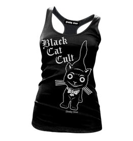 PINKY STAR PINKY STAR - Black Cat Cult Racerback Tank