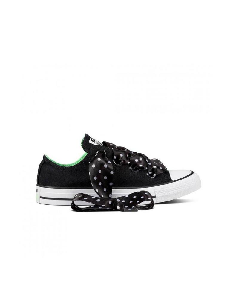 CONVERSE CHUCK TAYLOR BIG EYELETS OX BLACK/ILLUSION GREEN C12BIG-560671C