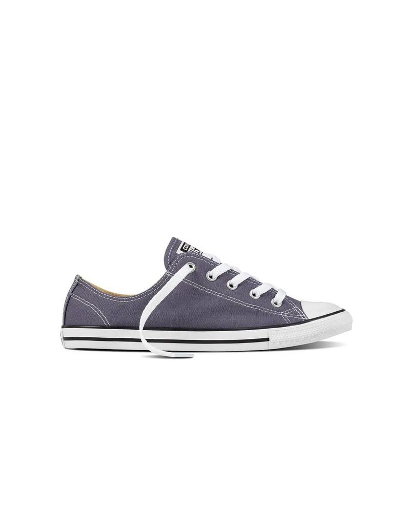 CONVERSE CHUCK TAYLOR DAINTY OX LIGHT CARBON/WHITE/BLACK C840DCA-559833C