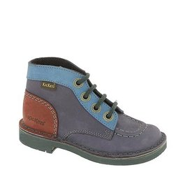 KICKERS KICK COL NAVY BURGUNDY K1485NB