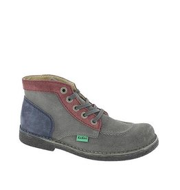 KICKERS LEGENDOK GREY BURGUNDY BLUE K1481GB