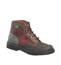 KICKERS KICK COL BROWN BURGUNDY K85BO