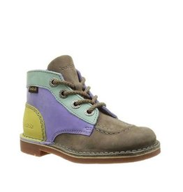 KICKERS KICK COL GREY YELLOW K1485GY