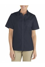 DICKIES Women`s Short Sleeve Stretch Work Shirt