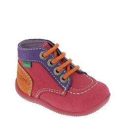 KICKERS BONBON FUCHSIA PURPLE ORANGE KM3FVO