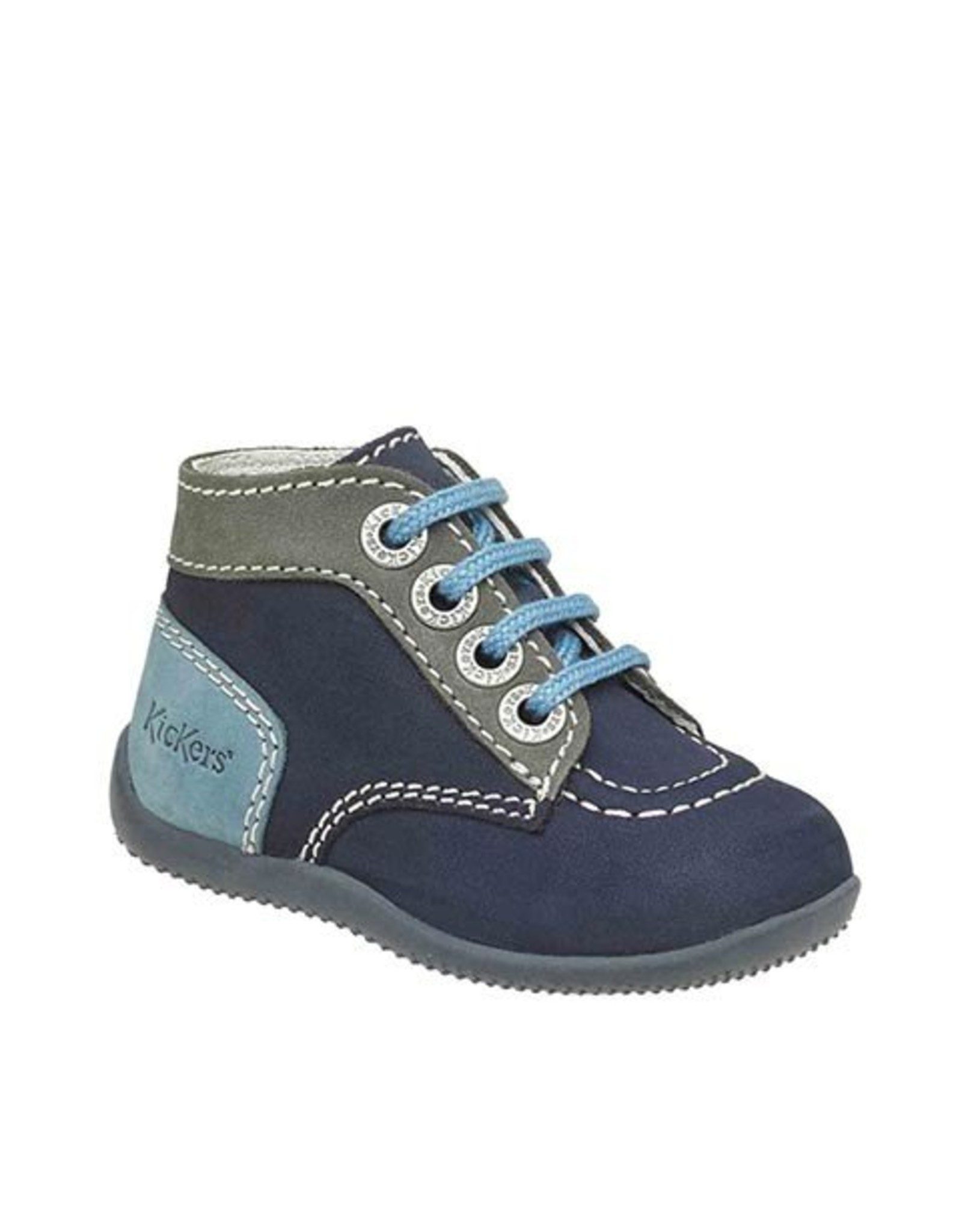 KICKERS BONBON NAVY GRAY BLUE KN3MG