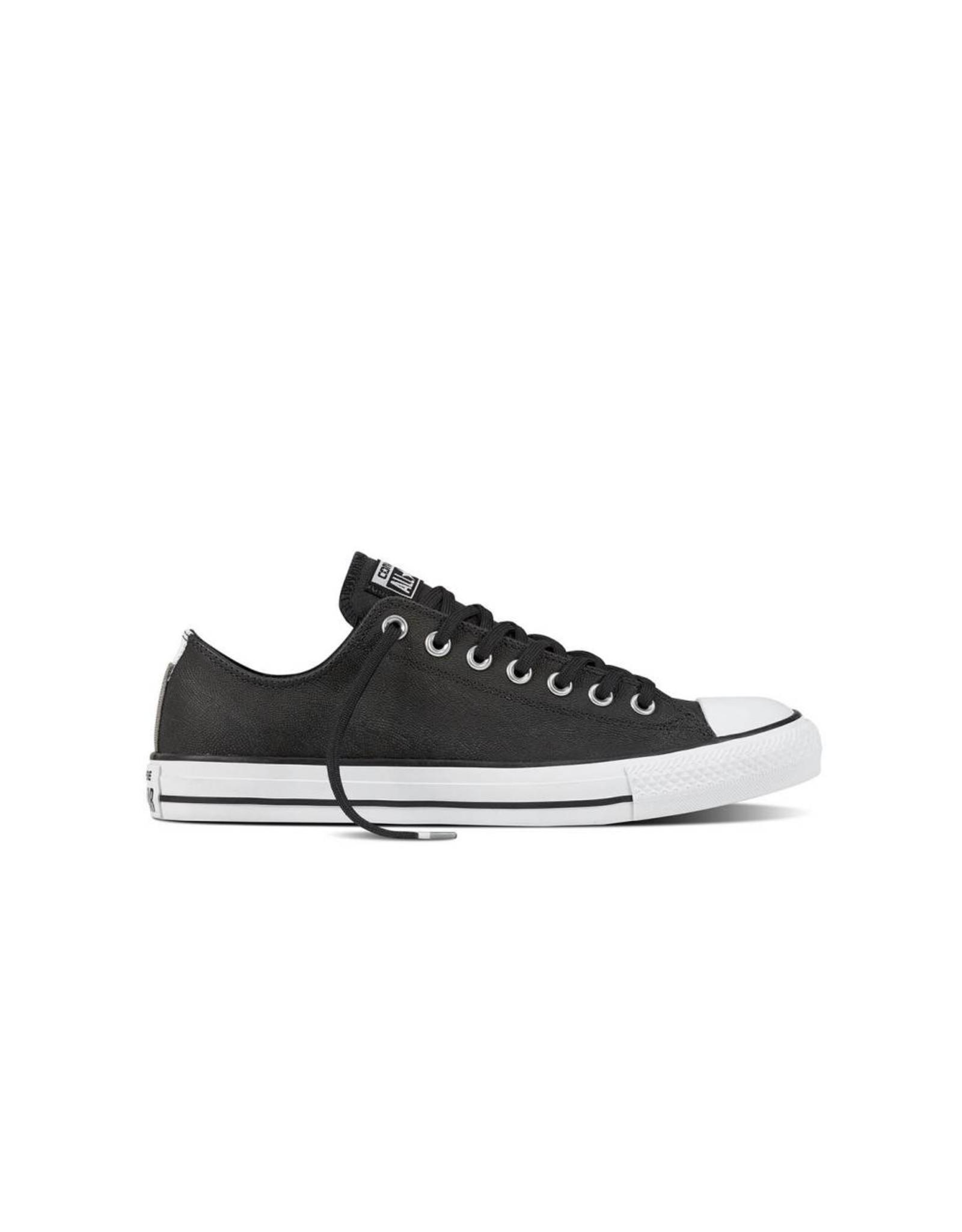 CONVERSE CHUCK TAYLOR OX LEATHER BLACK/BLACK/WHITE CC12BLA-159614C