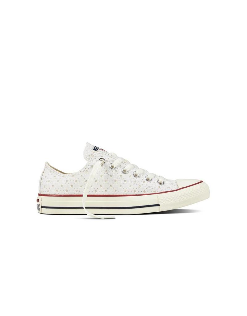 CONVERSE CHUCK TAYLOR OX WHITE/GARNET/ATHLETIC NAVY C12GAN-160515C