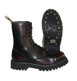 STEEL BOOT 10 EYELETS BURGUNDY RUB OFF CAP S1000R