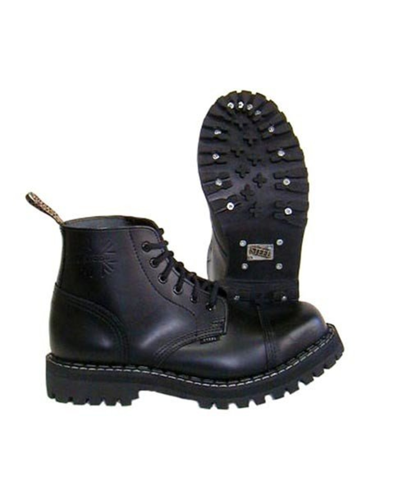 STEEL BOOT 6 EYELETS BLACK CAP S600B