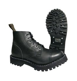 STEEL BOOT 6 EYELETS BLACK NOCAP S600BNC