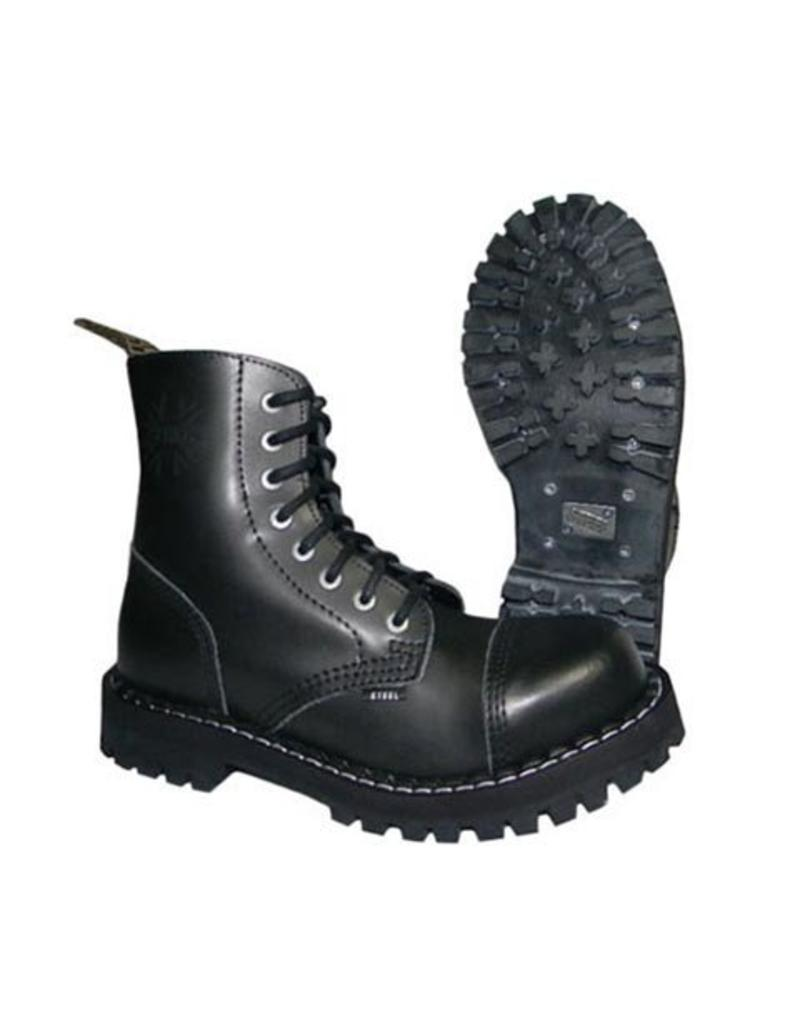 STEEL BOOT 8 EYELETS BLACK CAP S800B