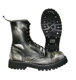 STEEL BOOT 10 EYELETS WHITE RUB OFF CAP S1000BW