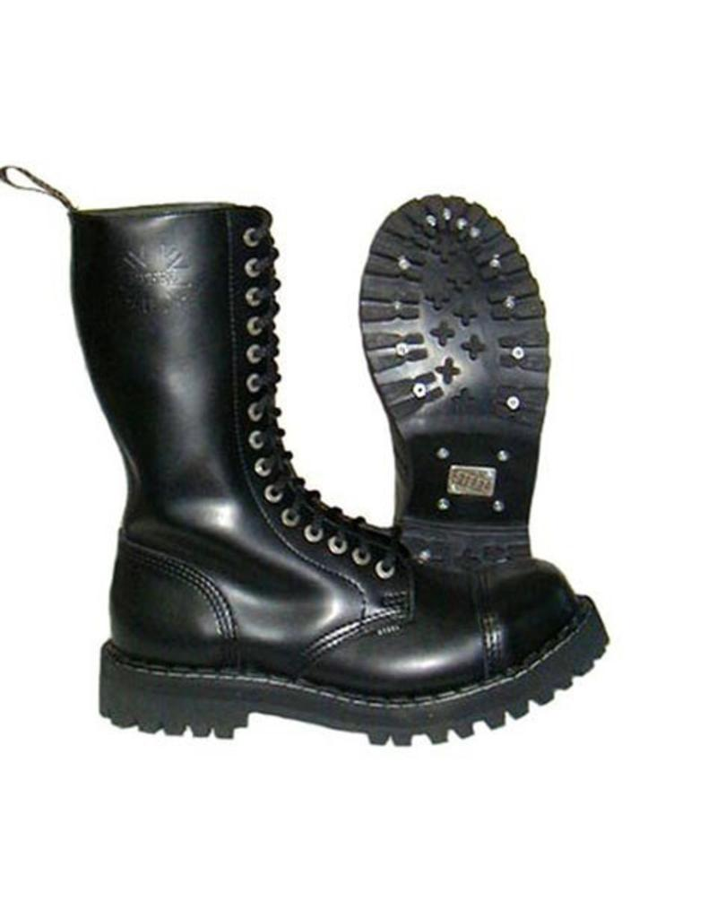 STEEL BOOT 15 EYELETS BLACK CAP S1500B