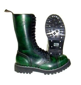STEEL BOOT 15 EYELETS GREEN RUB OFF CAP S1500V