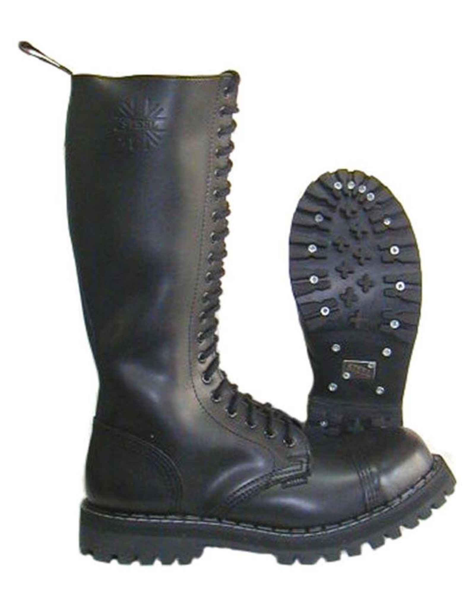 STEEL BOOT 20 EYELETS BLACK CAP S2000B