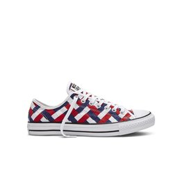 CONVERSE Chuck Taylor All Star  OX WHITE CLEMATIS BLUE RED C10TRB-151241C