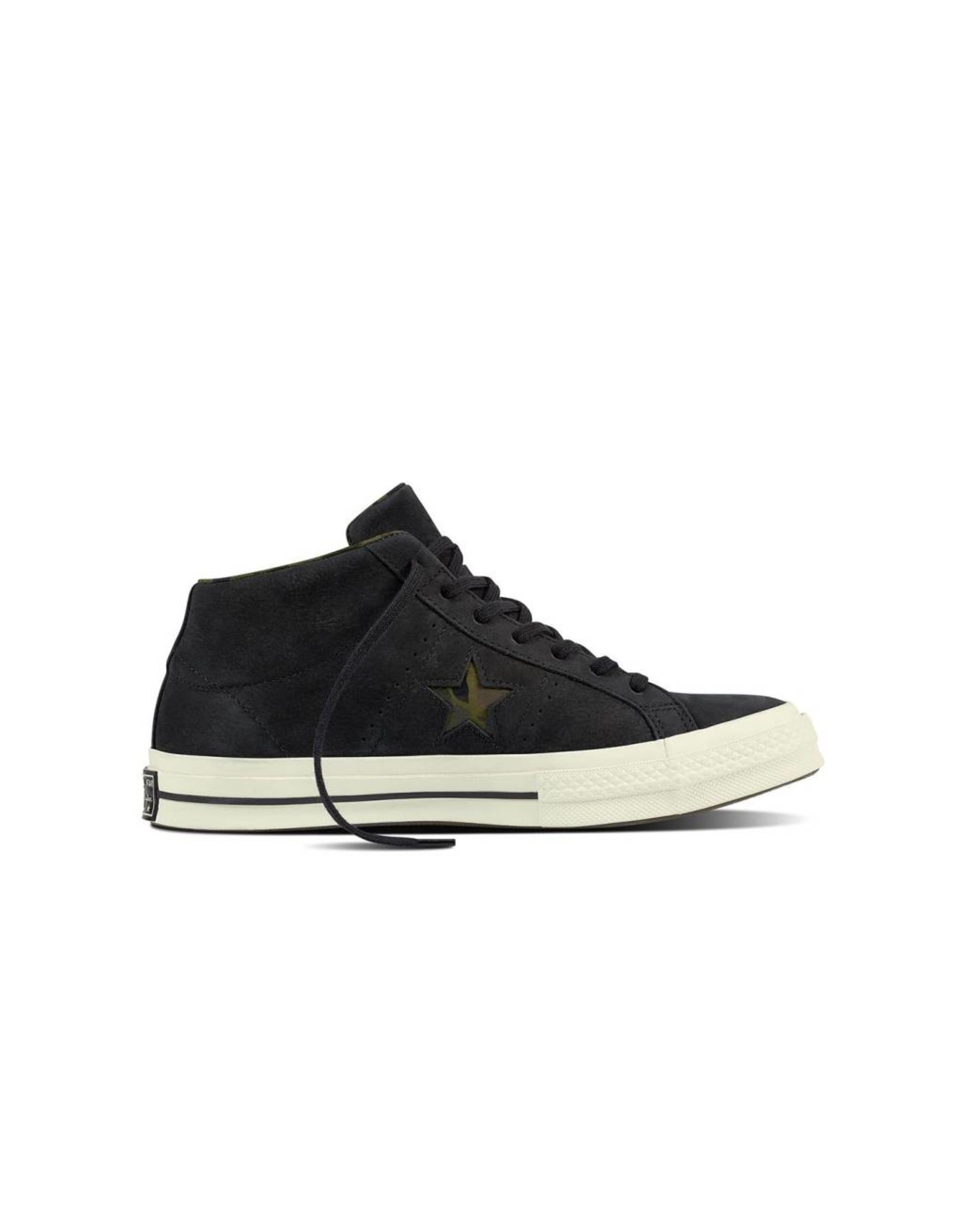 CONVERSE ONE STAR MID CUIR BLACK/EGRET/HERBAL C887BH-159747C