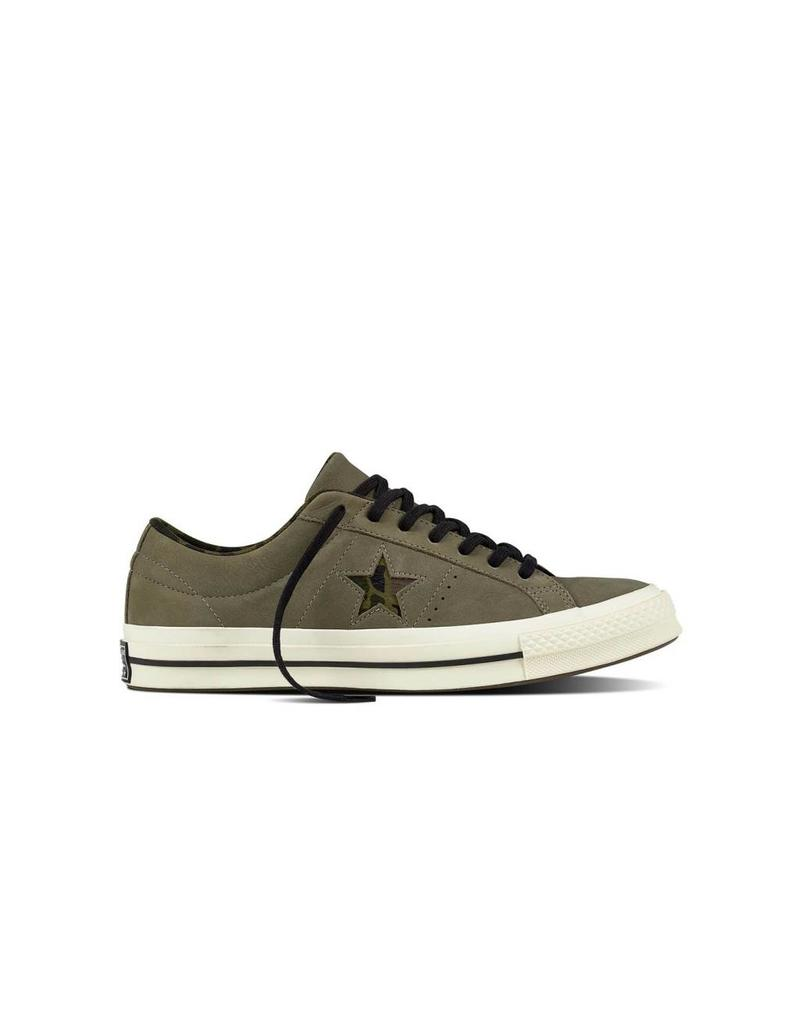 CONVERSE ONE STAR OX DARK STUCCO/EGRET/HERBAL CC887HA-159581C