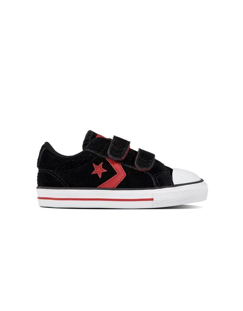 CONVERSE STAR PLAYER EV 2V OX BLACK/GYM RED/WHITE CR86BR-760036C