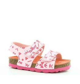 KICKERS SUMMERKRO ROSE CLAIR IMPR FUSCHIA KR75RCR 18E555507-10+133