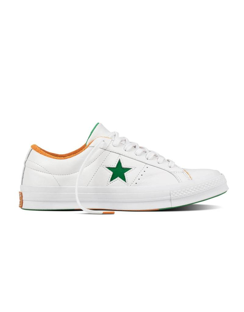 CONVERSE ONE STAR OX WHITE/GREEN/TANGELO C887GT-160594C