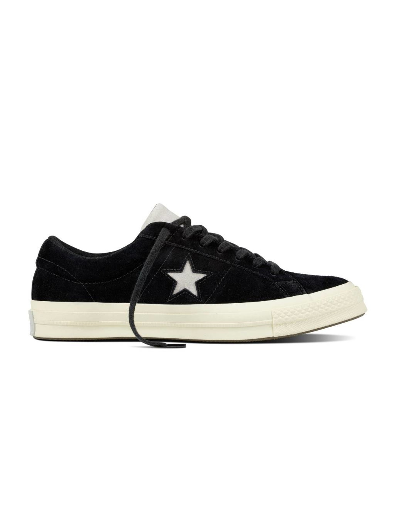 CONVERSE ONE STAR OX CUIR BLACK/MOUSE/EGRET C887MOU-160584C