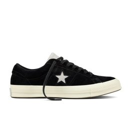 CONVERSE ONE STAR OX LEATHER BLACK/MOUSE/EGRET C887MOU-160584C