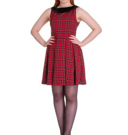 HELL BUNNY - Red Tartan Dress