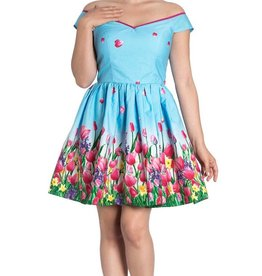 HELL BUNNY - Angelique Blue Mini Dress