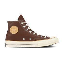 CONVERSE CHUCK TAYLOR 70 HI CUIR CHOCOLATE/LIGHT FAWN/EGRET C870CO-162394C