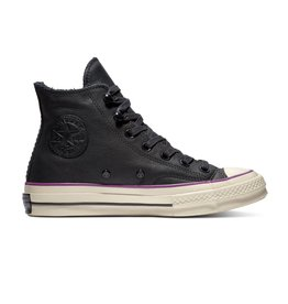 CONVERSE CHUCK TAYLOR 70 HI LEATHER BLACK/ICON VIOLET C870IC-162433C