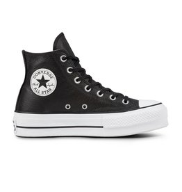 CONVERSE CHUCK TAYLOR LIFT CLEAN HI LEATHER BLACK/BLACK/WHITE C18LCB-561675C