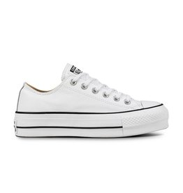 CONVERSE CHUCK TAYLOR LIFT CLEAN OX LEATHER WHITE/BLACK/WHITE C12LCW-561680C