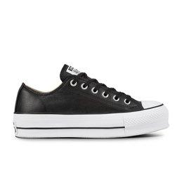 CONVERSE CHUCK TAYLOR LIFT CLEAN OX CUIR BLACK/BLACK/WHITE C12LCB-561681C