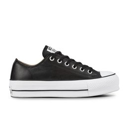 CONVERSE CHUCK TAYLOR LIFT CLEAN OX LEATHER BLACK/BLACK/WHITE C12LCB-561681C