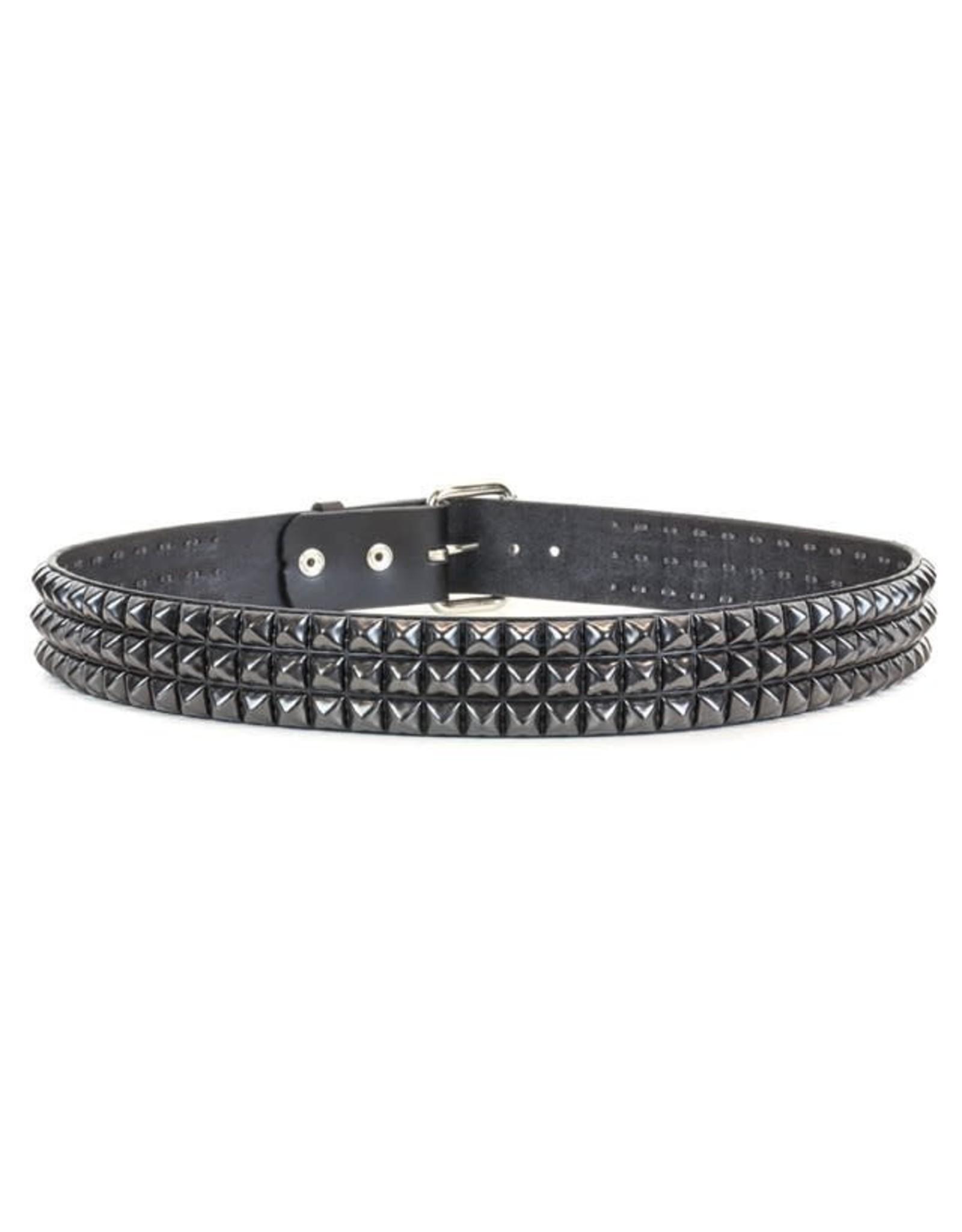 FUNKPLUS - 3 Rows/Black Studs Belt