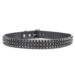 FUNKPLUS - 3 Rows/Black Studs Belt