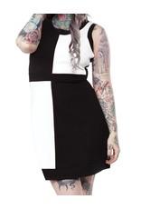 SOURPUSS - Mini Mod Black/White Dress
