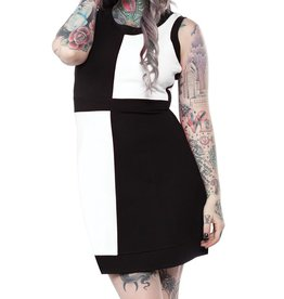SOURPUSS - Mini Mod Black/White Dress