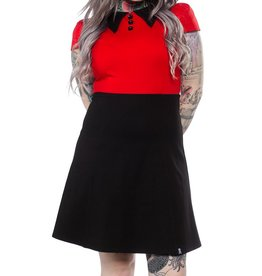 SOURPUSS - Roundabout Red/Blk Dress
