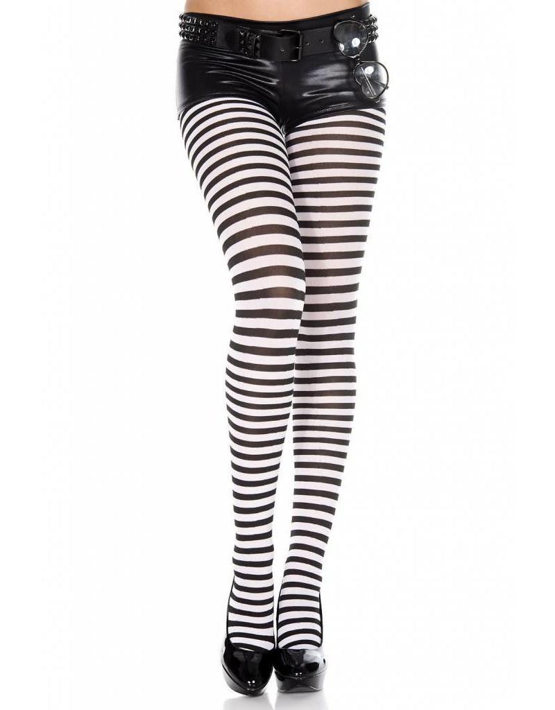 c16eecc9845 - Striped Tights Black White - Boutique X20 MTL