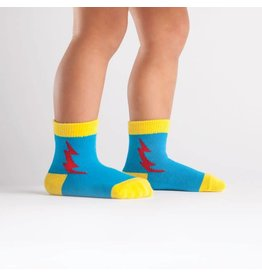 SOCK IT TO ME - Toddler Super Hero! Blue/Red Socks