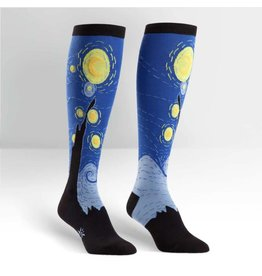SOCK IT TO ME - Women's Starry Night Knee High Funky Socks