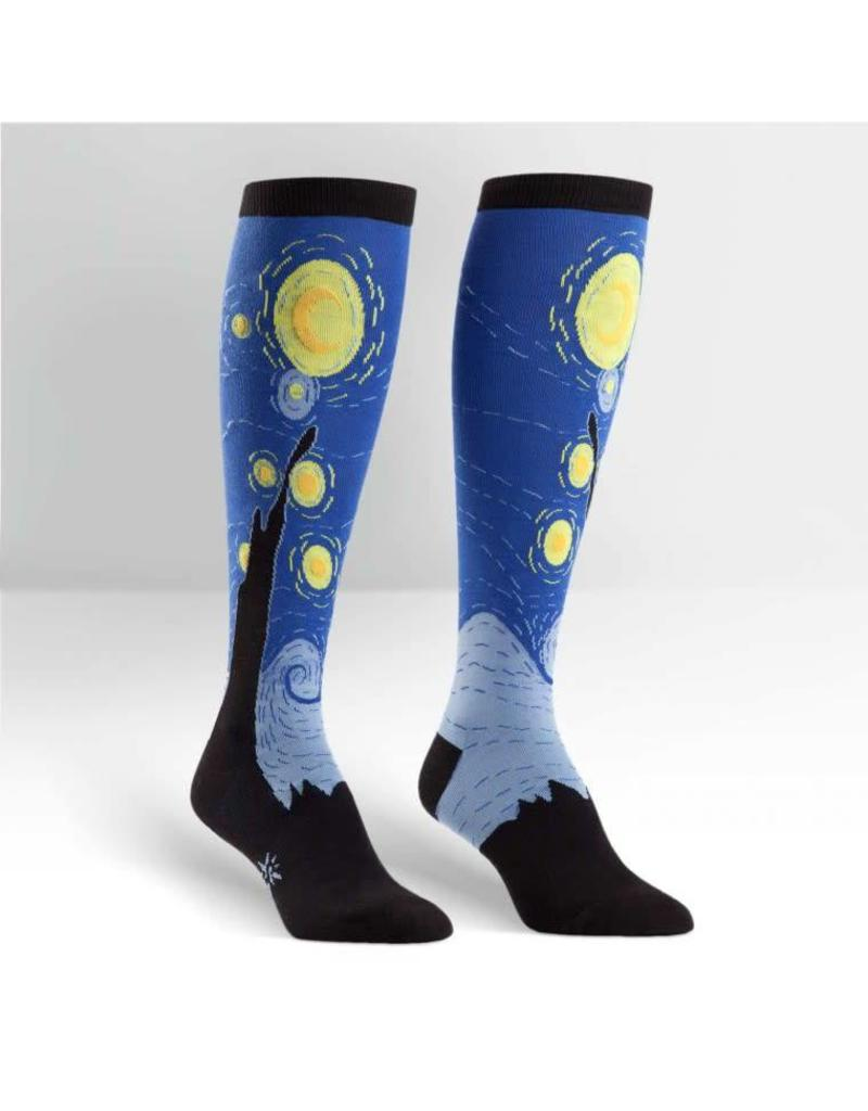 464cac6c303616 SOCK IT TO ME - Women s Starry Night Knee High Funky Socks - Boutique X20  MTL