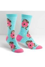 SOCK IT TO ME - Women's Snackin' Sloth Crew Socks