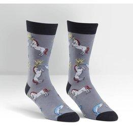 SOCK IT TO ME - Men's Unicorn vs. Narwhal Crew Socks