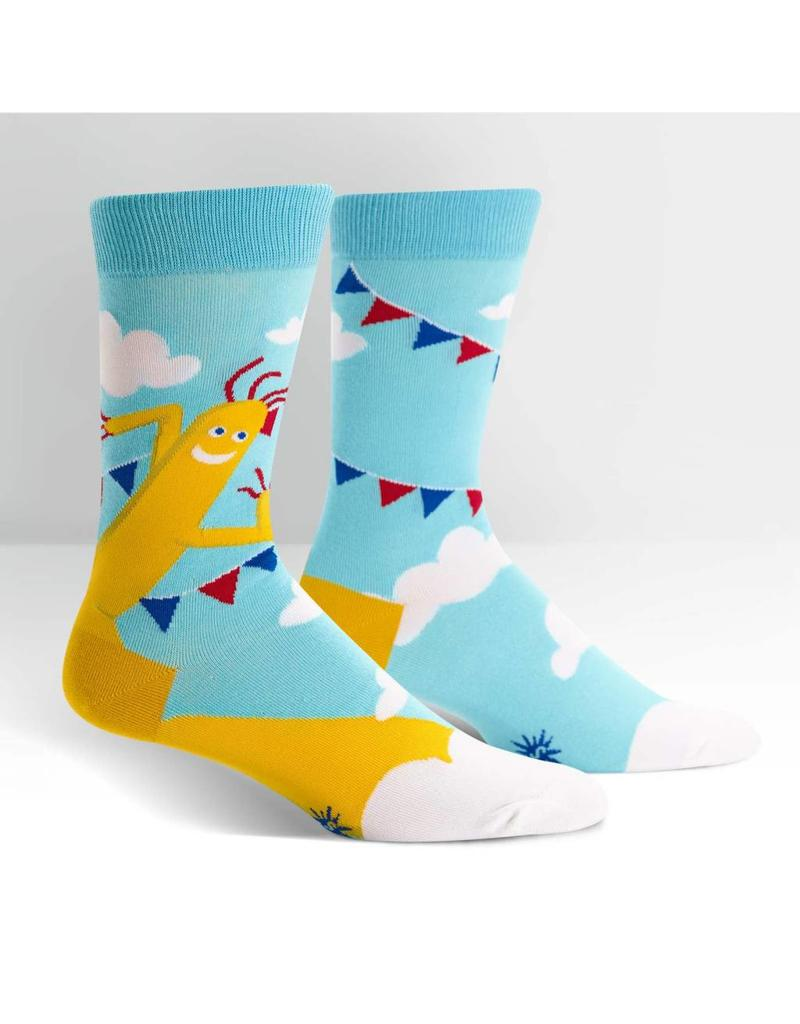 SOCK IT TO ME - Men's The Ecstasy of Mr. Wavy Arms Crew Socks