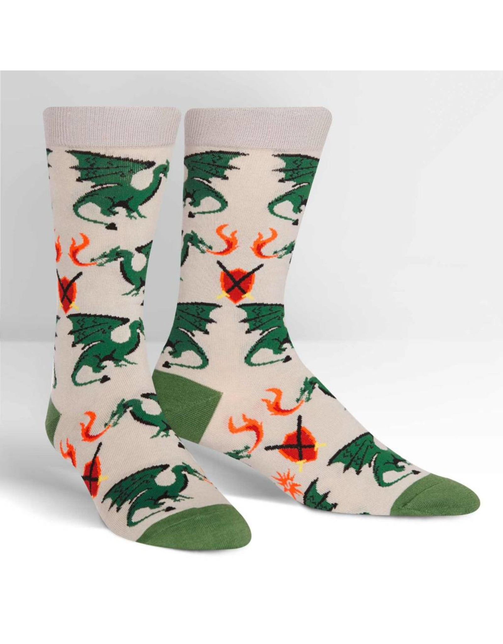 SOCK IT TO ME - Men's Beware of Dragons Crew Socks